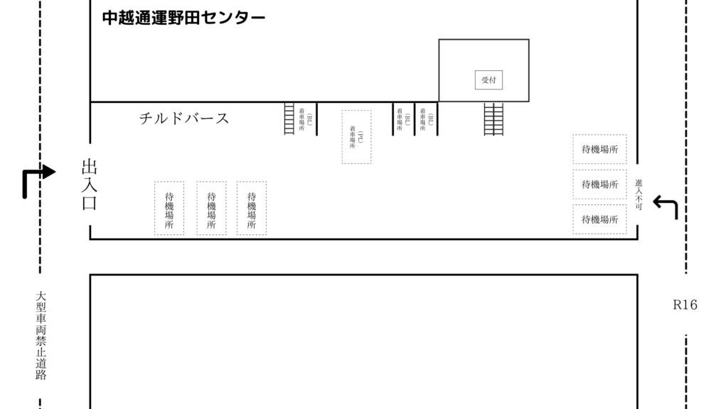 中越通運野田センター 見取り図