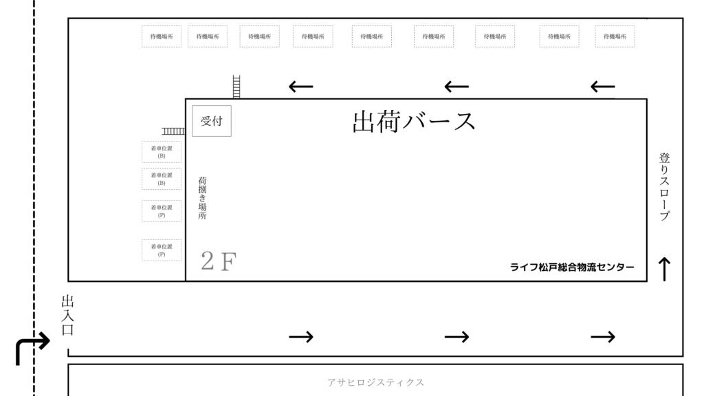 ライフ松戸総合物流センター 見取り図