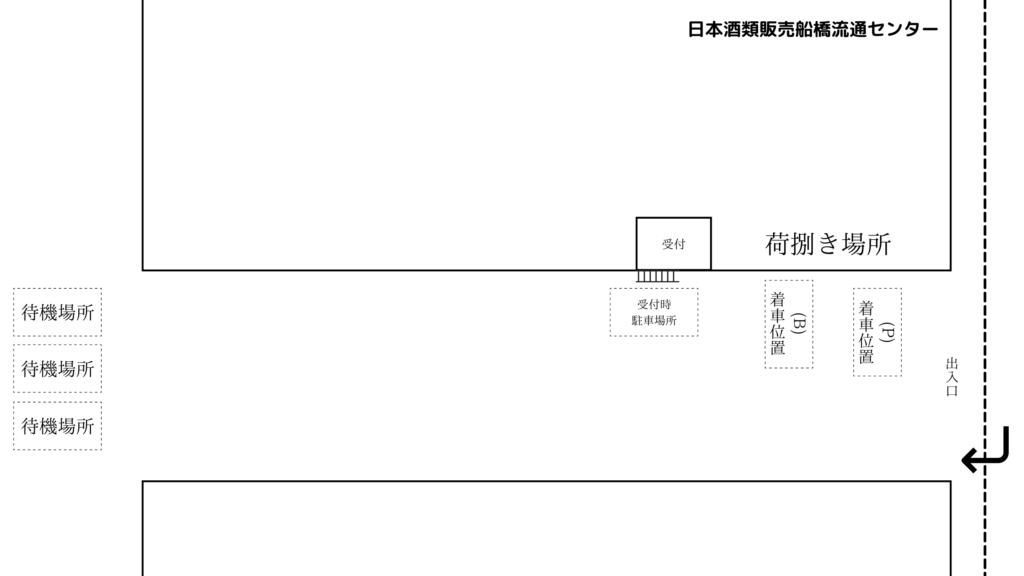 日本酒類販売船橋流通センター 見取り図