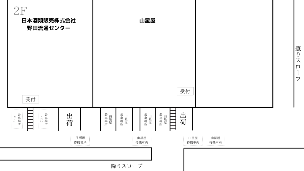 日本酒類販売野田センター 見取り図