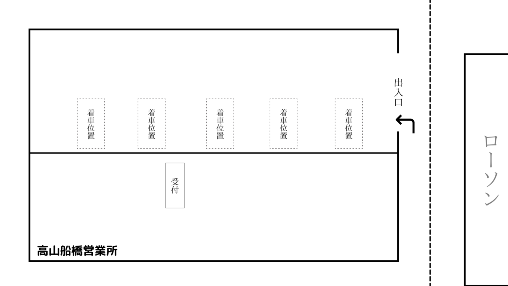 高山船橋営業所 見取り図