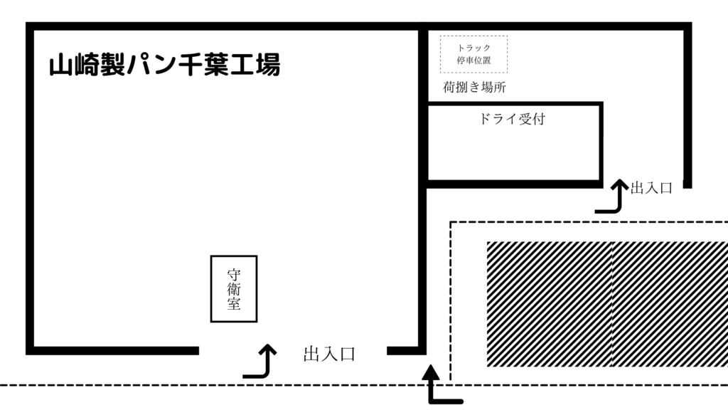 山崎製パン千葉工場(ドライ) 見取り図