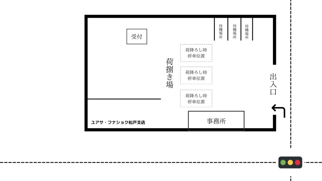ユアサ・フナショク松戸支店 見取り図